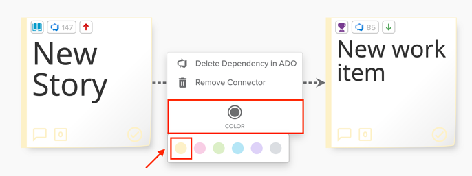 ADO Choose Color Dependency Screenshot