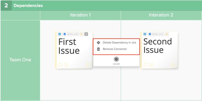 Dependency Menu Delete Options Highlighted Screenshot