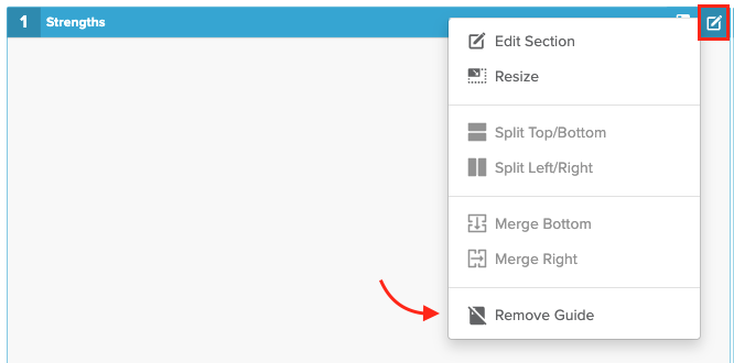 Remove Template Guide Screenshot
