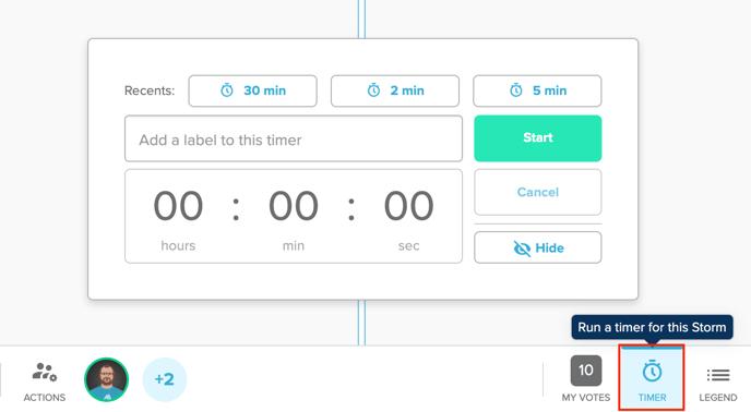 Opening the Timer Screenshot