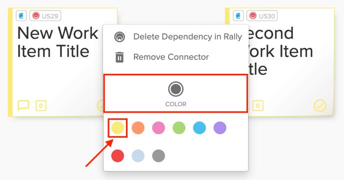 Rally Dependency Select Color Screenshot
