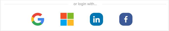Sign In Partner Buttons below Sign Up form buttons Screenshot